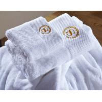 Buy cheap Wholesale Custom Embroidered Logo White Luxury Hotel Towels Bath Set 100% Cotton Towel from wholesalers
