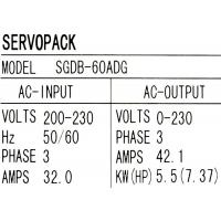 Buy cheap 3 Phase Yaskawa Industrial Servo Drives SGDB-60ADG 5500W Duct Ventilation Type from wholesalers