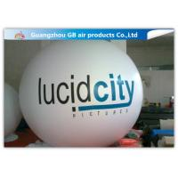 Buy cheap White Round Inflatable Helium Balloons Ball Customized Size CE UL product