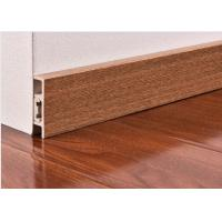 Buy cheap CE Wooden Color Waterproof PVC Vinyl Skirting Board For Floor / Wall Base from wholesalers