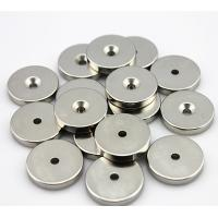 Buy cheap Smaller round neodymium magnets disc , circle with Thickness / axially Magnetization from wholesalers