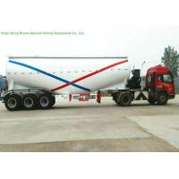Buy cheap 55-70cbm Tri Axle Bulk Cement Tank Trailer With Diesel Engine For Dry Powder Meterial from wholesalers