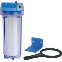 Buy cheap Clear And Blue Water Filter Parts , Refillable Filter Cartridge Housing from wholesalers