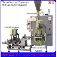 Buy cheap Stick tea bag packing machine with hole and envelope back sealing for infusion stick tea from wholesalers