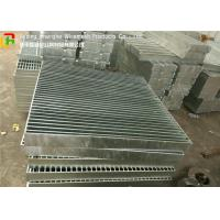 Buy cheap Full Welded Galvanized Steel Walkway Grating Anti - Corrosive For Building Material from wholesalers