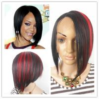 Buy cheap Popular star hair style imitation Fashion mixture color short bob Wigs/Hair from wholesalers