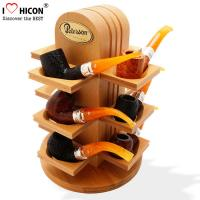 Buy cheap Retail Shop Wooden Display Shelf Countertop Smoking Pipe Rack For Tobacco Store from wholesalers