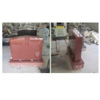 Buy cheap Red Polished Sketch Granite Memorial Headstones 37.6Mpa Bending Strength from wholesalers