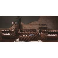Buy cheap Mediem Brown Extra Large Soft Leather Sofa Full Handwork Craft 5 Years Guerantee from wholesalers