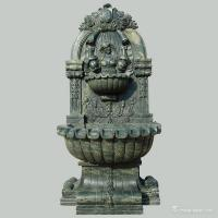 Buy cheap Green Marble Stone Carving Sculpture Wall Fountain , Garden Sculptures Stone from wholesalers