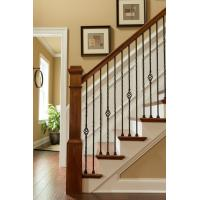 Buy cheap Wrought iron stair Decorative handrail for home and garden indoor or outdoor usage from wholesalers