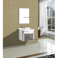 Buy cheap Space Saving Small Wall Mount Bathroom Vanity With Simple Silver Mirror from wholesalers