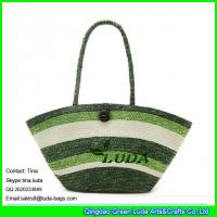 Buy cheap LUDA striped wheat straw best beach bags cheap straw beach bags from wholesalers
