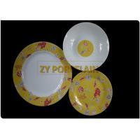 Kosovo Elegant Design Round Ceramic Dinnerware Sets Service For 6 Hotel Banquet
