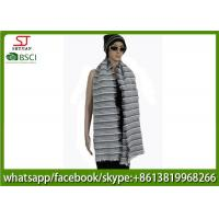 Buy cheap 176g 180*60cm 100%Acrylic woven crochet stripe scarf poncho best price factory  keep warm fashion china supplying from wholesalers