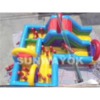 Buy cheap Colorful Amusement Park Large bouncy assault course hire With double stitching from wholesalers