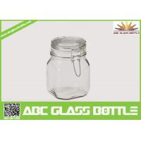 Buy cheap Popular clear swing top glass jar product