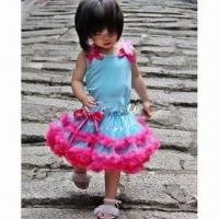 Buy cheap Girls' Fluffy Tutu Skirt Set with Top and Legging, Fashionable Style, Available in Various Colors from wholesalers