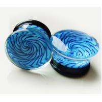 Buy cheap FPG-GLASS Translucent bright blue Glass Ear Stretcher plug body jewelry from wholesalers