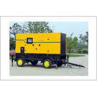 Buy cheap 3 Phase 4 Wires Trailer Mounted Diesel Generator , Soundproof Diesel Generator Set from wholesalers