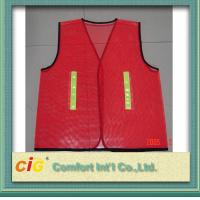 Buy cheap Red / Green Road Security Reflective Safety Jacket Warning Vest Road Maintenance from wholesalers