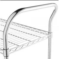 Buy cheap Chrome Wire Shelving Parts , Wire Shelf Trolley Utility U Shape Handles from wholesalers