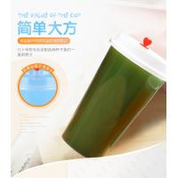 Buy cheap Printed Pp Plastic Cup With Dome Lid , Transparent Plastic Juice Cup With Straw from wholesalers