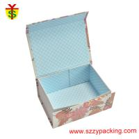 Buy cheap Flower Fabric Magnet Paper Boxes Foldable Use For Children's Gift And Packaging Coloful from wholesalers