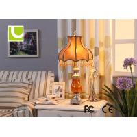 Buy cheap Funky Orange Crystal Drop Luxurious Table Lamps For Hotel / Residential from wholesalers