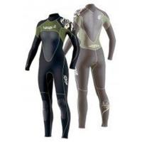 Buy cheap Ladies Full Black / Green XL Scuba Diving Neoprene Wetsuits 4/ 3mm from wholesalers