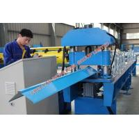 China Corrugated Metal Roofing Ridge Cap Roll Forming Machinery 5.5KW on sale