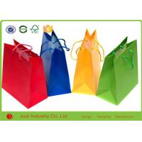 Buy cheap Small Brown Paper Bags With Handles , Fashionable Custom Printed Shopping Bags from wholesalers
