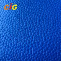 Buy cheap 100% Polyester Embossed PVC Artificial Leather Shrink - Resistant / Blackout product