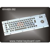 Metal Rugged Industrial Keyboard with Trackball , 65 Keys Vandal proof