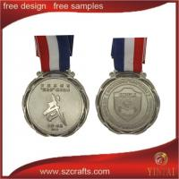 Buy cheap China production olympic metal/metal award medal with ribbon from wholesalers