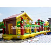 Buy cheap High Durability Children'S Obstacle Course / Bouncy House Combo Inflatable from wholesalers