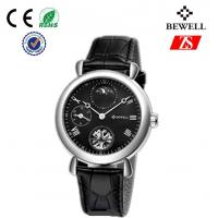 Buy cheap Genuine Leather Strap Stainless Steel Wrist Watches , Marble Dial Watch from wholesalers