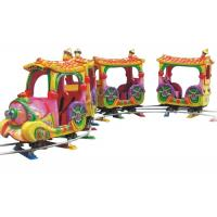 Buy cheap Electric Outdoor Amusement Train Rides , Cartoon 14 Seats Mini Track Train from wholesalers