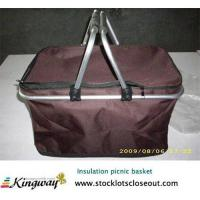 Buy cheap Closeout,stocklot,overstock,surplus,excess inventory,liquidators cooler picnic basket from wholesalers