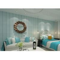 Buy cheap Modern Striped Wallpaper Yarn breathable wall covering for bedroom from wholesalers