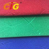Buy cheap Red / Green / Blue Flock Auto Upholstery Fabric With Knitting Back from wholesalers