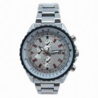 Buy cheap Original Silver Metal Wristwatch with Waterproof and Japan Miyota Quartz Movement, CE-/RoHS-marked from wholesalers