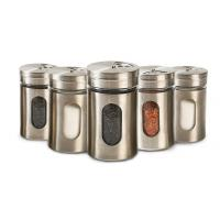 Buy cheap Cylinder Kitchenware Glass Jar Container Spice Metal Jar With Shaker Resturant from wholesalers