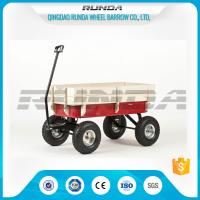 Buy cheap Light Duty Garden Mesh Cart 21kg , Red Color Steel Garden Wagon10inches Wheel from wholesalers
