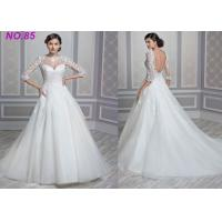 Buy cheap Stunning Ivory Women's  Princess Bride Wedding Dress With Long Sleeves And Train from wholesalers