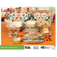 Buy cheap Long Last Print Bamboo Fiber Dinnerware , Custom Made Bamboo Dinnerware Dishwasher Safe product