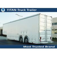 Buy cheap White , green , red Semi auto Transportation car trailer hauler Mechanical suspension from wholesalers