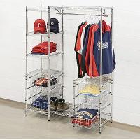 Buy cheap Mall Clothing Display Racks , Metal Garment Storage Shelves from wholesalers