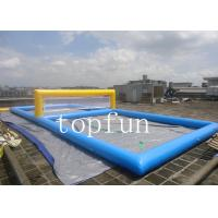 Buy cheap Blue Inflatable Sports Games Water Inflatable Beach Volleyball Court from wholesalers