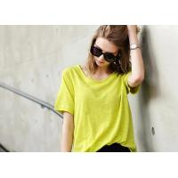 Buy cheap 100% Cotton Women's T - Shirts Loose Fashion Color Double Car Line Charm from wholesalers